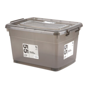 Rolling Storage Container 55L - Slate