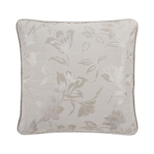 Floral Jacquard Cushion 45x45cm- Sand