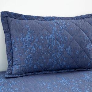Hayes Grey/Blue Pillowshams 50cm x 75cm