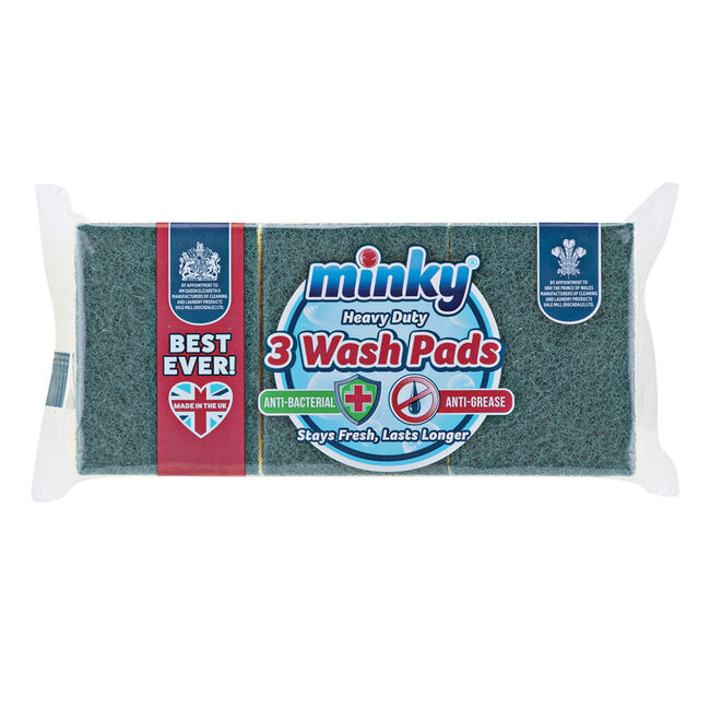 Minky Anti-Bacterial Wash Pads 3 Pack
