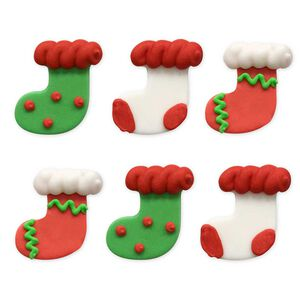 Christmas Stocking Handmade Icing Cake Toppers