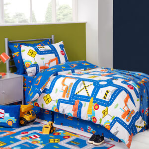 JUNIOR BED DUVET COVER Road Works