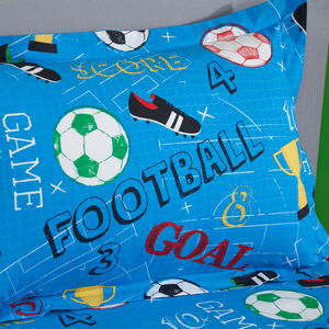 Goal Oxford Pillowcase Pair - Blue