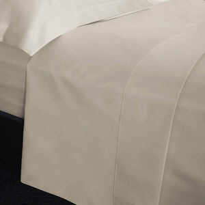SINGLE FLAT SHEET 200 Threadcount Cotton Cream