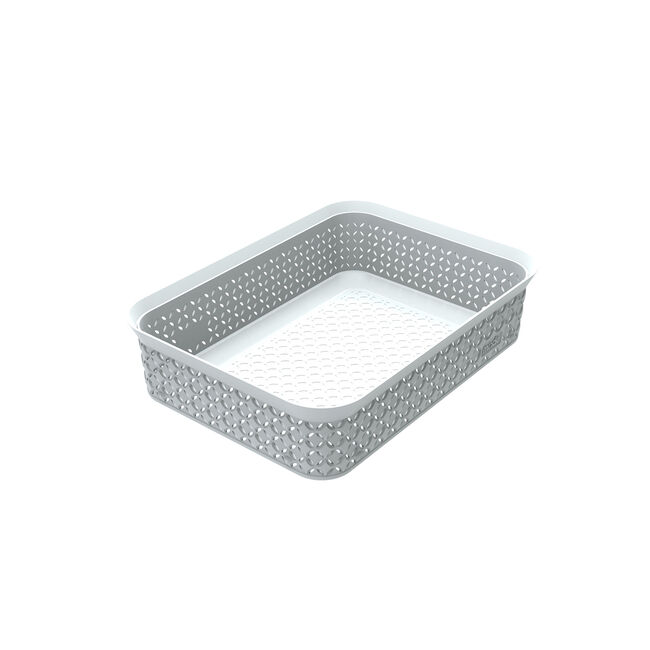 Ezy Mode A5 Storage Tray Stackable Lily Cream