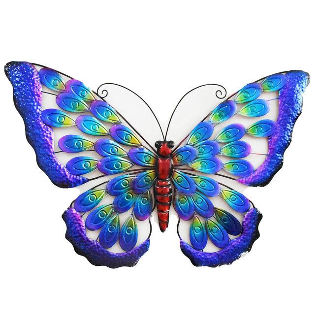 Peacock Wings Butterfly Garden Wall Art