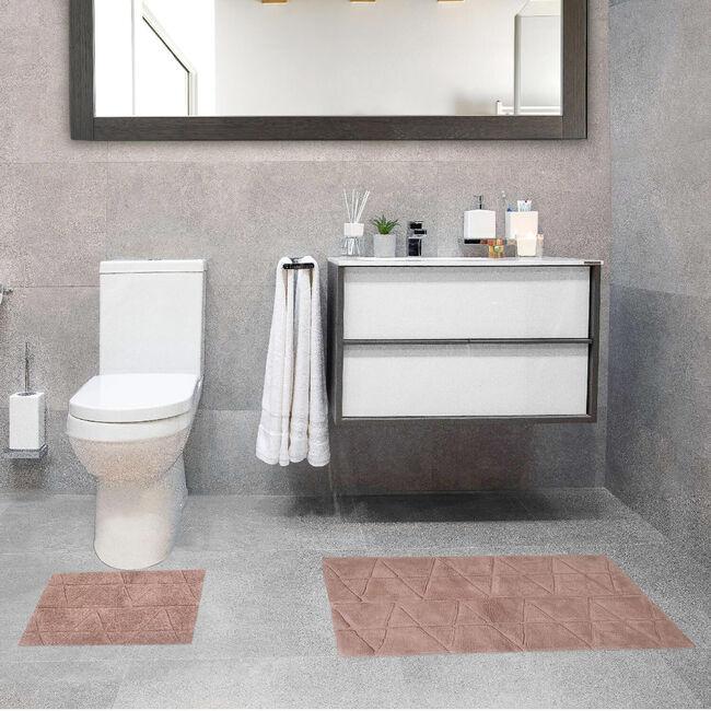 Triangle x-large Bath Mat 2 Piece - Natural