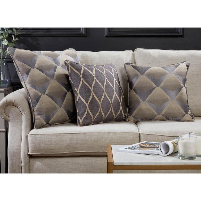 Deco Fan Cushion 58 x 58cm - Charcoal
