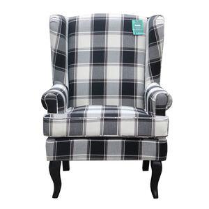 Arlo Wolf Grey Plaid Armchair