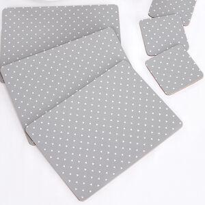 Logic Grey Mats & Coasters 4pk
