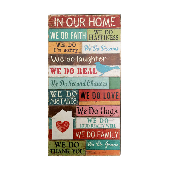 In Our Home Wall Art 20X38cm