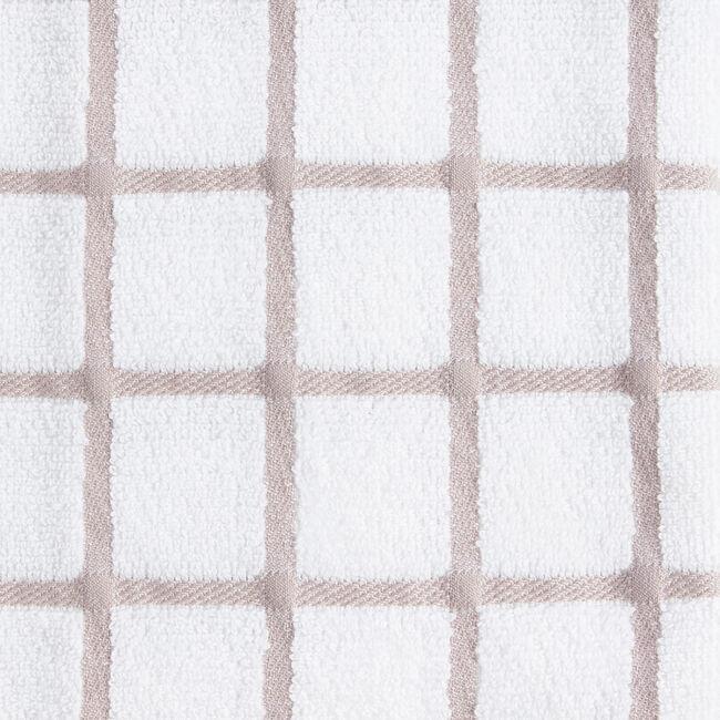 Multi Check Tea Towel - Mocha