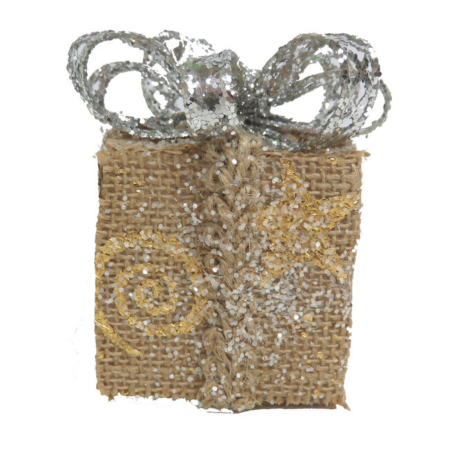 Glitter Gift Box Ornament