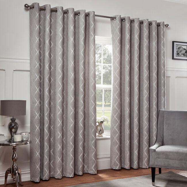 PEARL DOVE GREY 66x54 Curtain