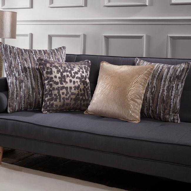 Phoenix Bark Cushion 45 x 45cm - Charcoal