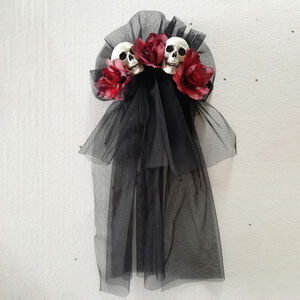 Red Rose and Skulls Hairpin