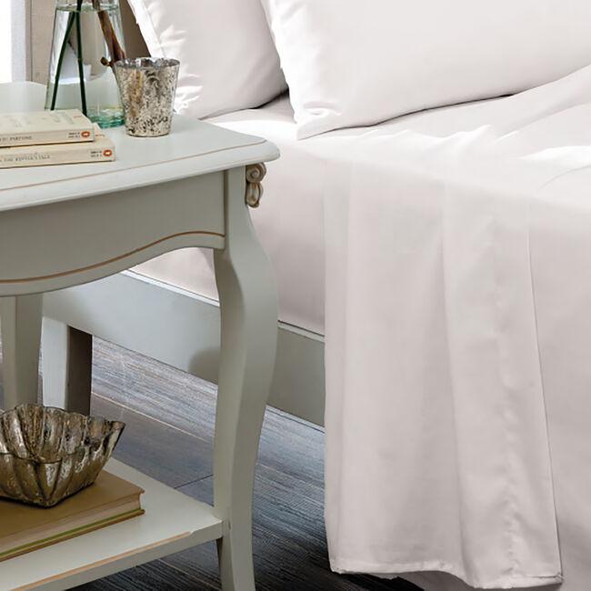 SINGLE FLAT SHEET Luxury Percale White