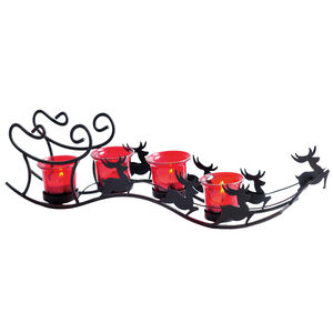 Reindeer Votive Candle Holder Set