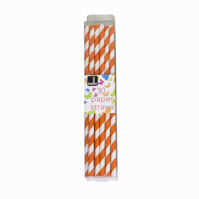 Swirl 30 Paper Straws