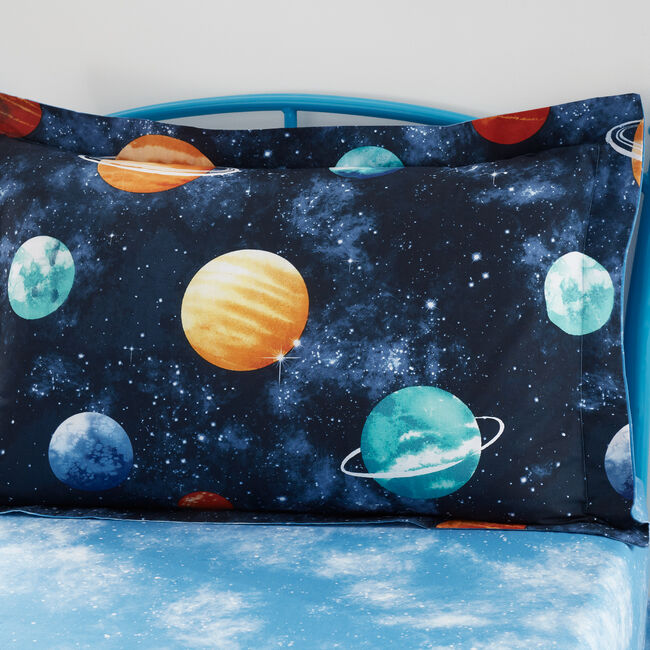 Planets Oxford Pillowcase Pair - Multi