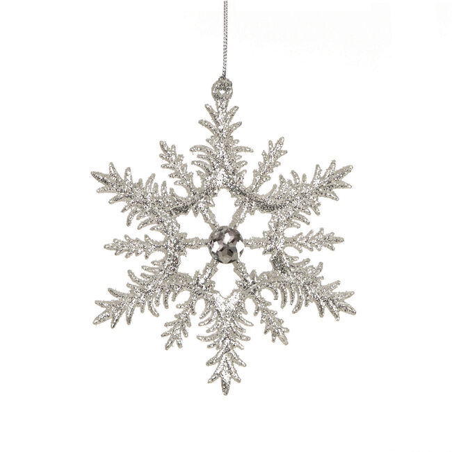 Silver Snowflake Tree Ornament 12cm
