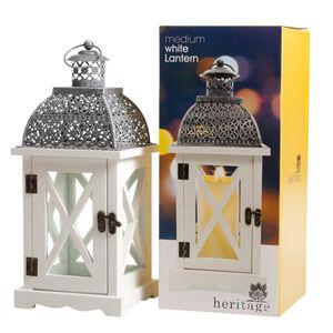 Heritage Medium White Lantern