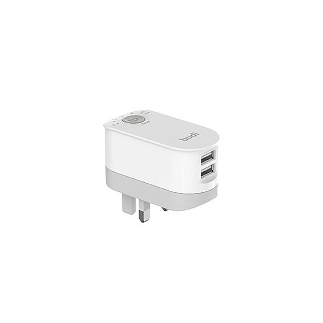 Budi white 2 USB Mains Charger