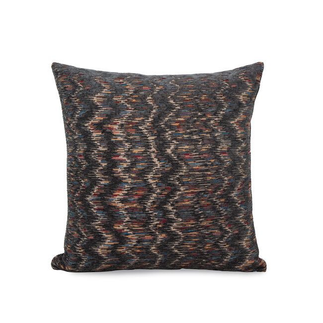 Iona Chevron Cushion 43x43cm - Grey