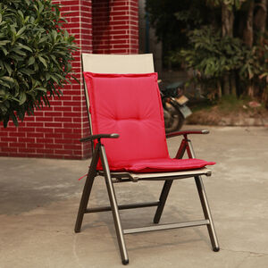 Low Back Chair Cushion Red 100x48x4cm