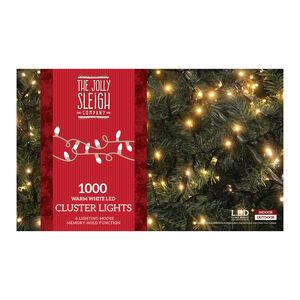 1000 Warm White LED Cluster Lights