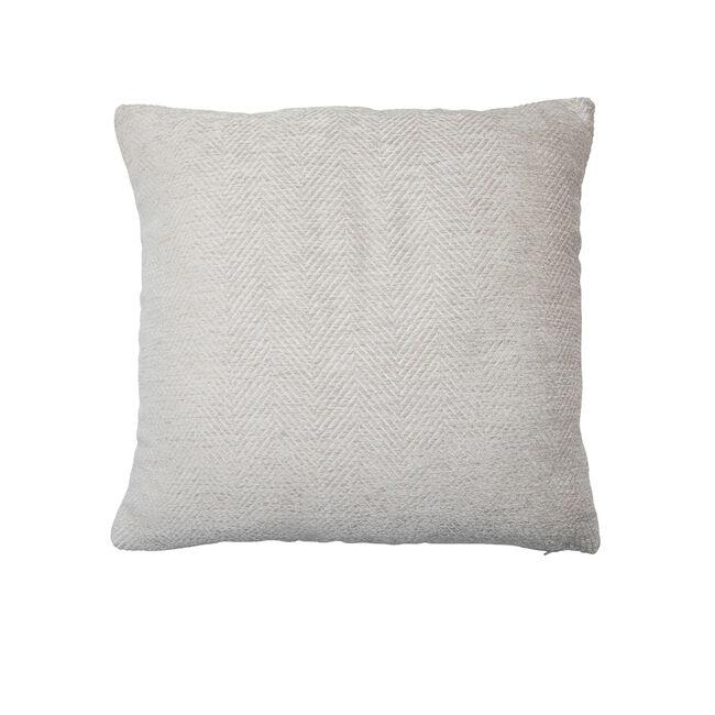Chenille Zig Zag Cushion 45x45cm - Biscuit