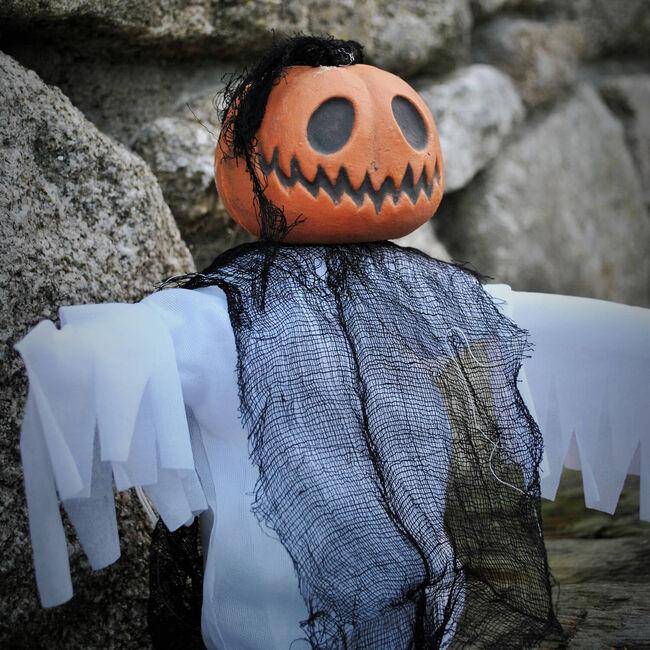 Shaking Pumpkin Ghost 20cm