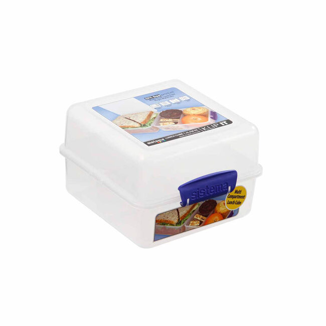 Klip It Airtight Lunch Cube Clear