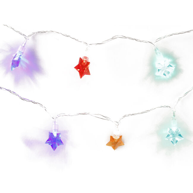 25 Star Flashing LED Lights Multicolour