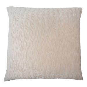 Velvet Crush Cushion 58x58cm - Ivory