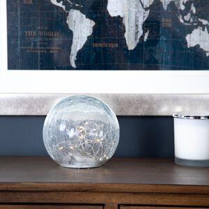 30 Warm White LED Crackle Glass Ball