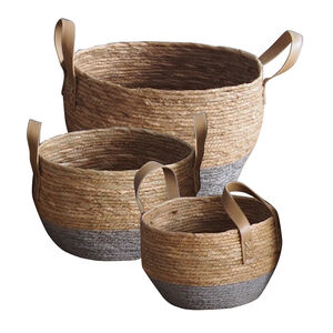 Grey and Natural Look Basket Set