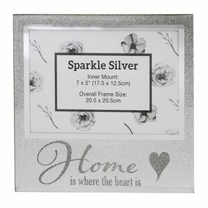 Sparkle Silver Photo Frame 5x7""