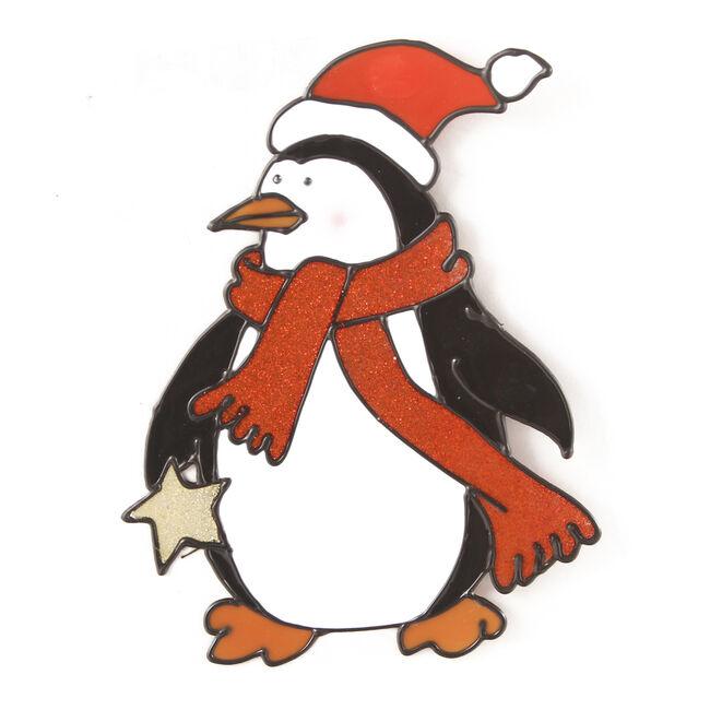 Merry Christmas Window Sticker Penguin