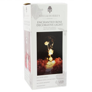 10 Led Rose Cloche Decorative Light