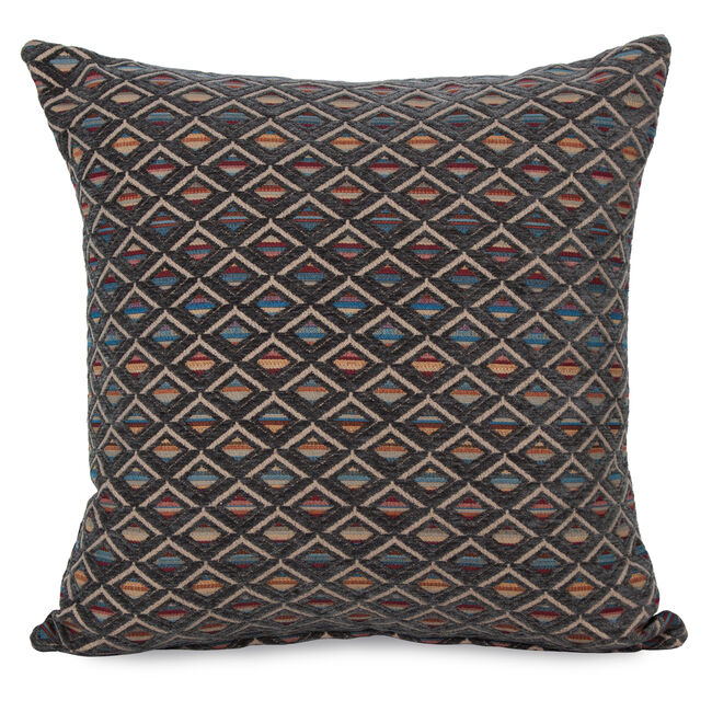 Iona Diamond Cushion 58x58cm - Grey