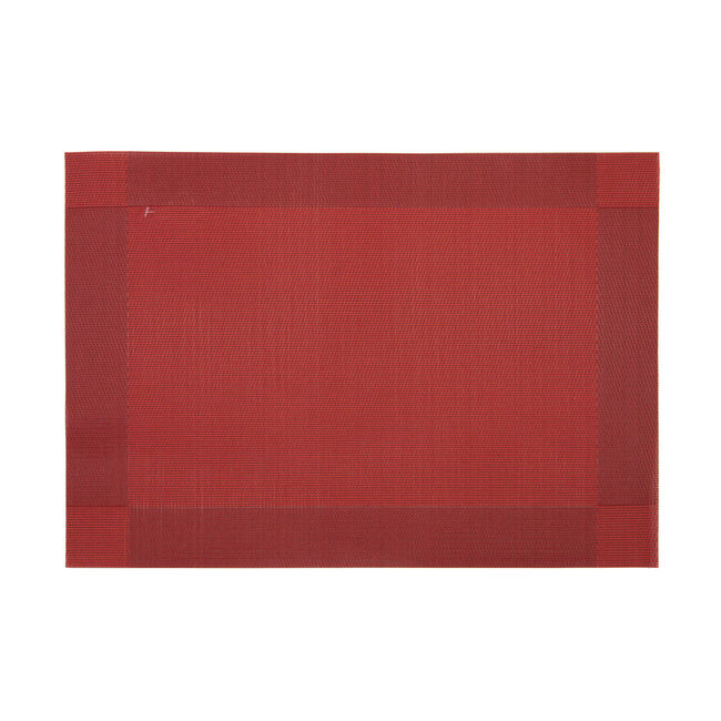 Netted Oxford Burgundy Placemat