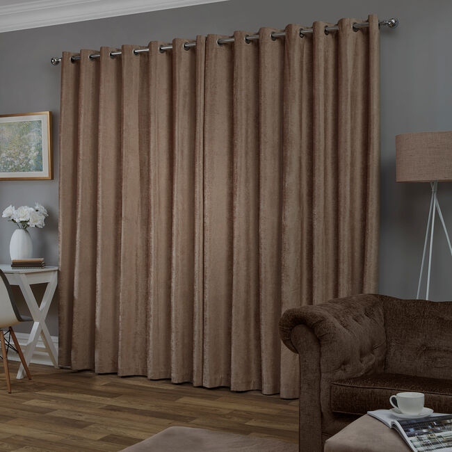BLACKOUT & THERMAL TEXTURED TAUPE 66x54 Curtain