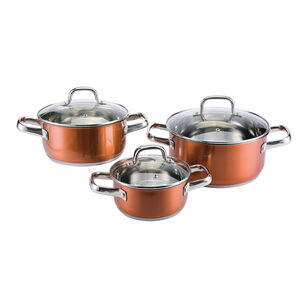 Cucino Rame 3 Piece Cookware Set