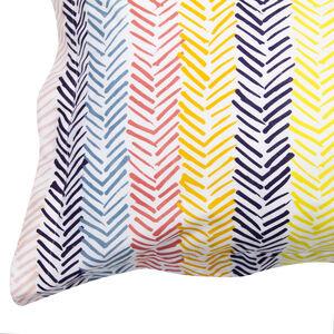Linear Sunburst Multi Oxford Pillowcase Pair