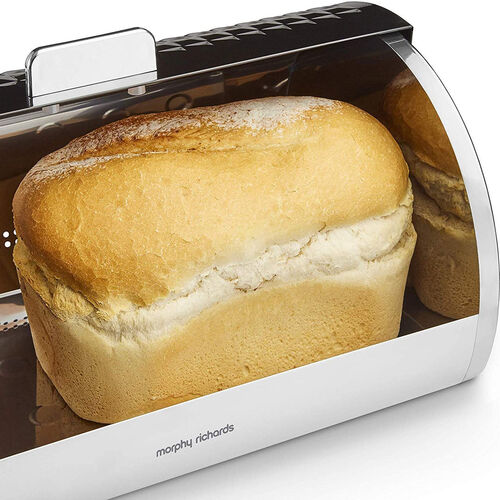 Morphy Richards Dimensions Black Bread Bin