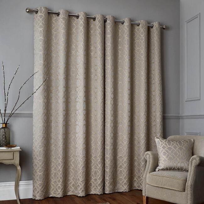GATSBY BLUE/GOLD 66x54 Curtain