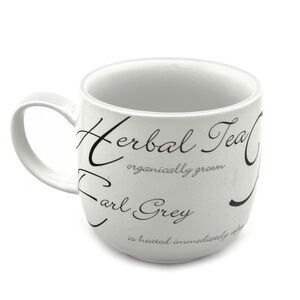 Script Black and White Hug Mug