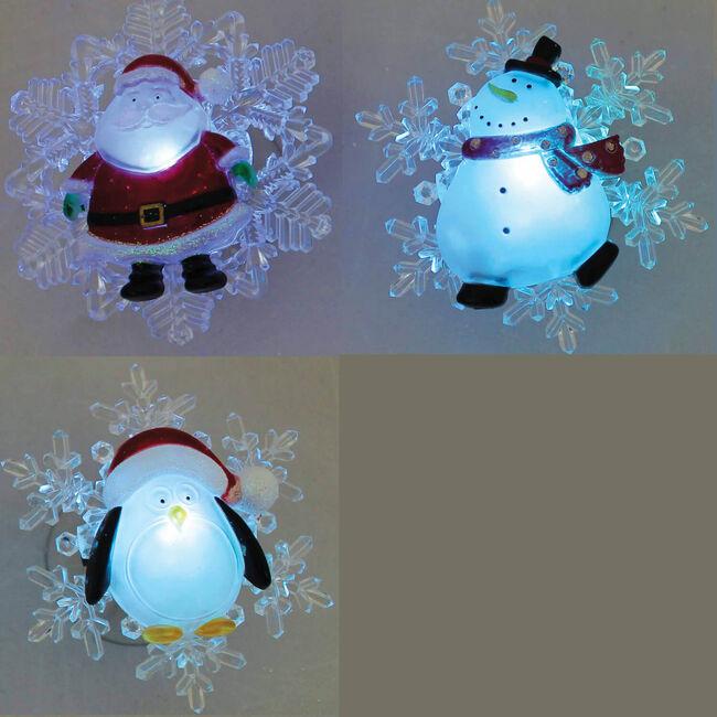 LED Coloured Window Christmas Characters