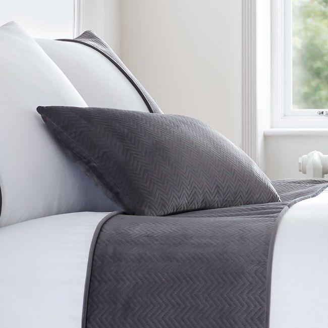 Ribeiro Velvet Cushion Grey 30 x 50cm